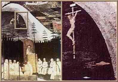 """Il particolare del dipinto """"La Tebaide"""" che raffigurerebbe un UFO"""