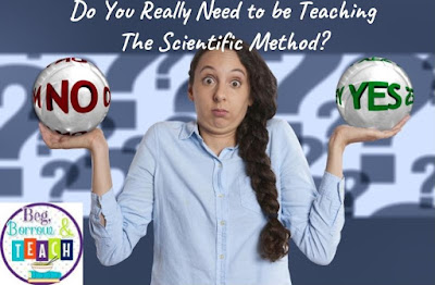 Do You Really Need to be Teaching The Scientific Method?