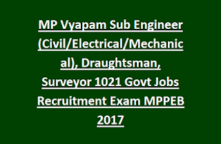 MP Vyapam Sub Engineer (Civil, Electrical, Mechanical), Draughtsman, Surveyor 1021 Govt Jobs Recruitment Exam MPPEB Noytification 2017.png