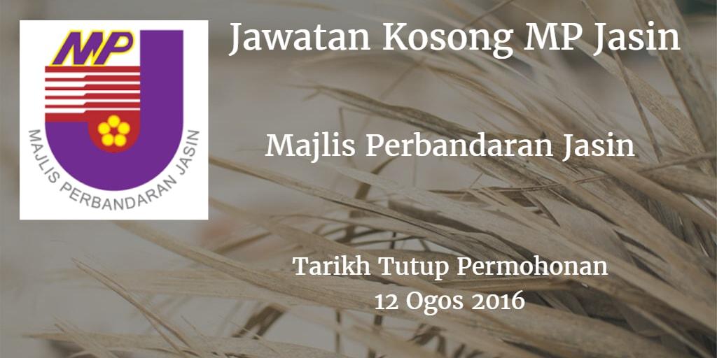Jawatan Kosong MP Jasin 12 Ogos 2016