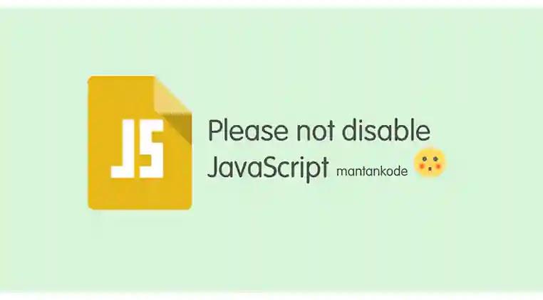 Cara membuat peringatan untuk mengaktifkan JavaScript