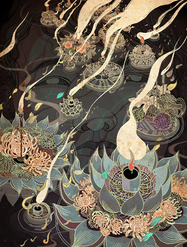 Victo Ngai (China/US) - Buddha art
