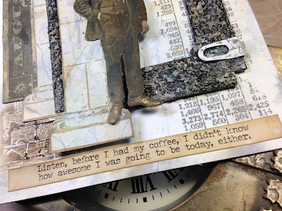 Sara Emily Barker http://sarascloset1.blogspot.com/ Before I Had My Coffee #timholtz #stampersanonymous #sizzixalterations #distressoxides Faux Marble Faux Granite 6