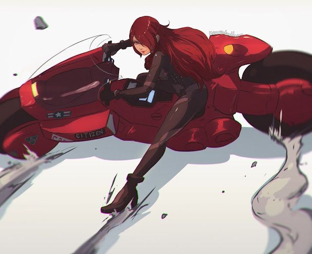 mitsuru-from-persona-3-on-kanedas-bike-by-koyorin