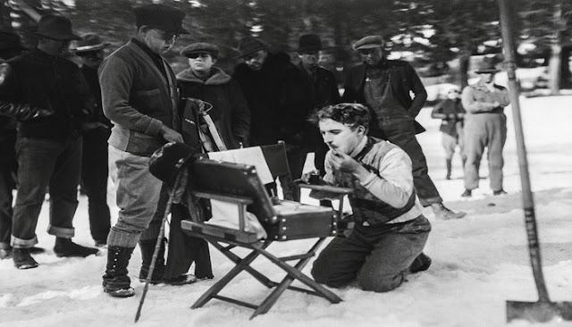 Fotograma de la quimera del oro, de Charles Chaplin, del año 1925