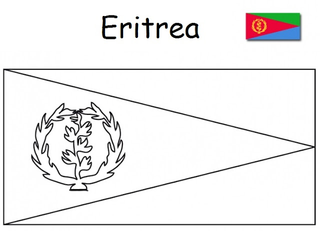 Download Geography Blog: Flag of Eritrea coloring page