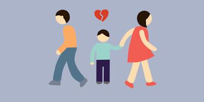 Potret Anak yang Orangtuanya Bercerai