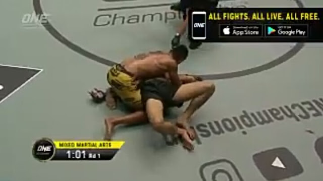 Pursuit Of Greatness : Rudy Agustian def. Kaji Ebin by submission, Round 1