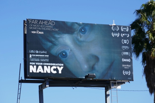 Nancy movie FYC billboard