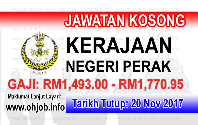 Jawatan Kerja Kosong Kerajaan Negeri Perak logo www.ohjob.info november 2017