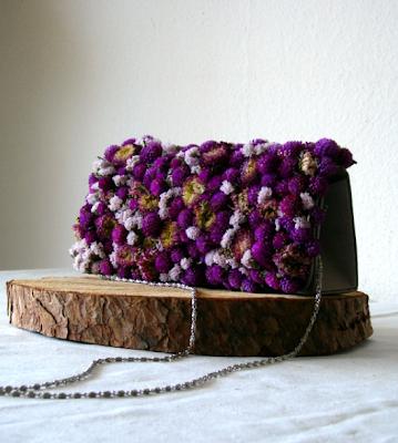 una bag bouquet di fiori secchi