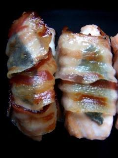 Bastoncini di salmone appetitosi