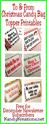 Decorate your Christmas presents with a little extra fun this Christmas! Use these free printable bag toppers filled with your favorite Christmas candy for a special treat for everyone on your Christmas list.