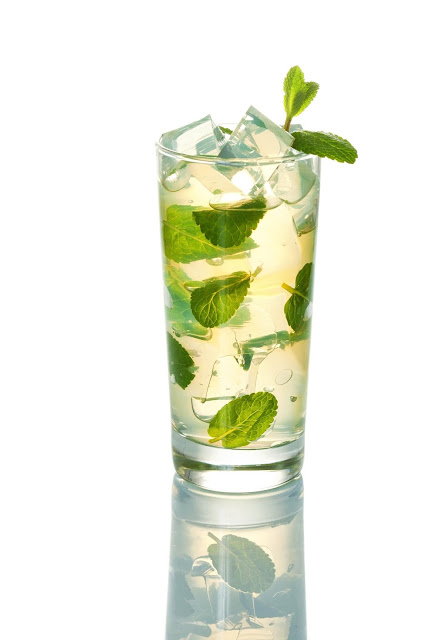 Ice tea with Ginger Mint and Honey