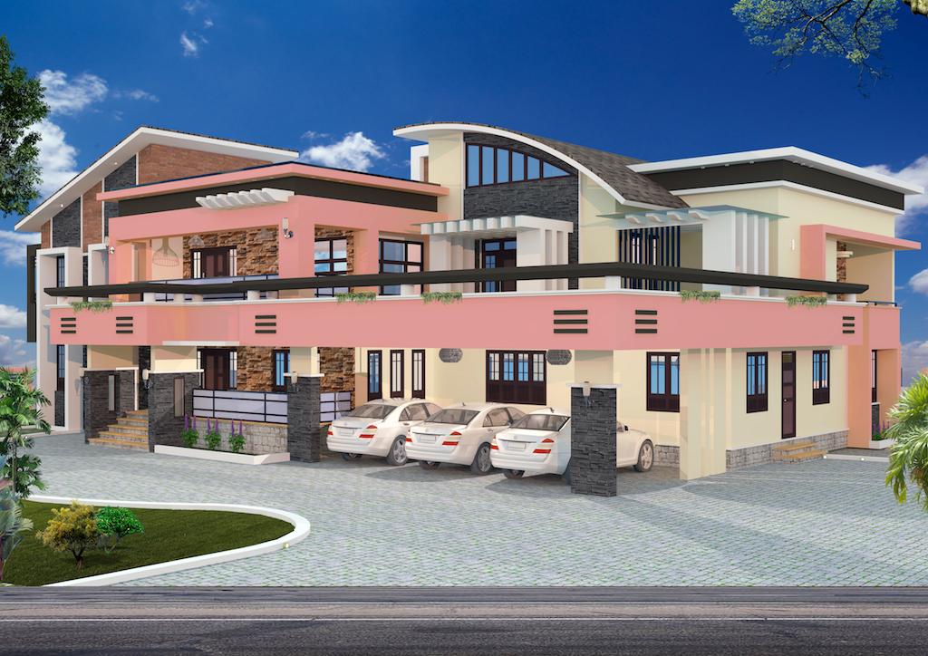 Luxury 3 car porch  5 Bedroom floor plan