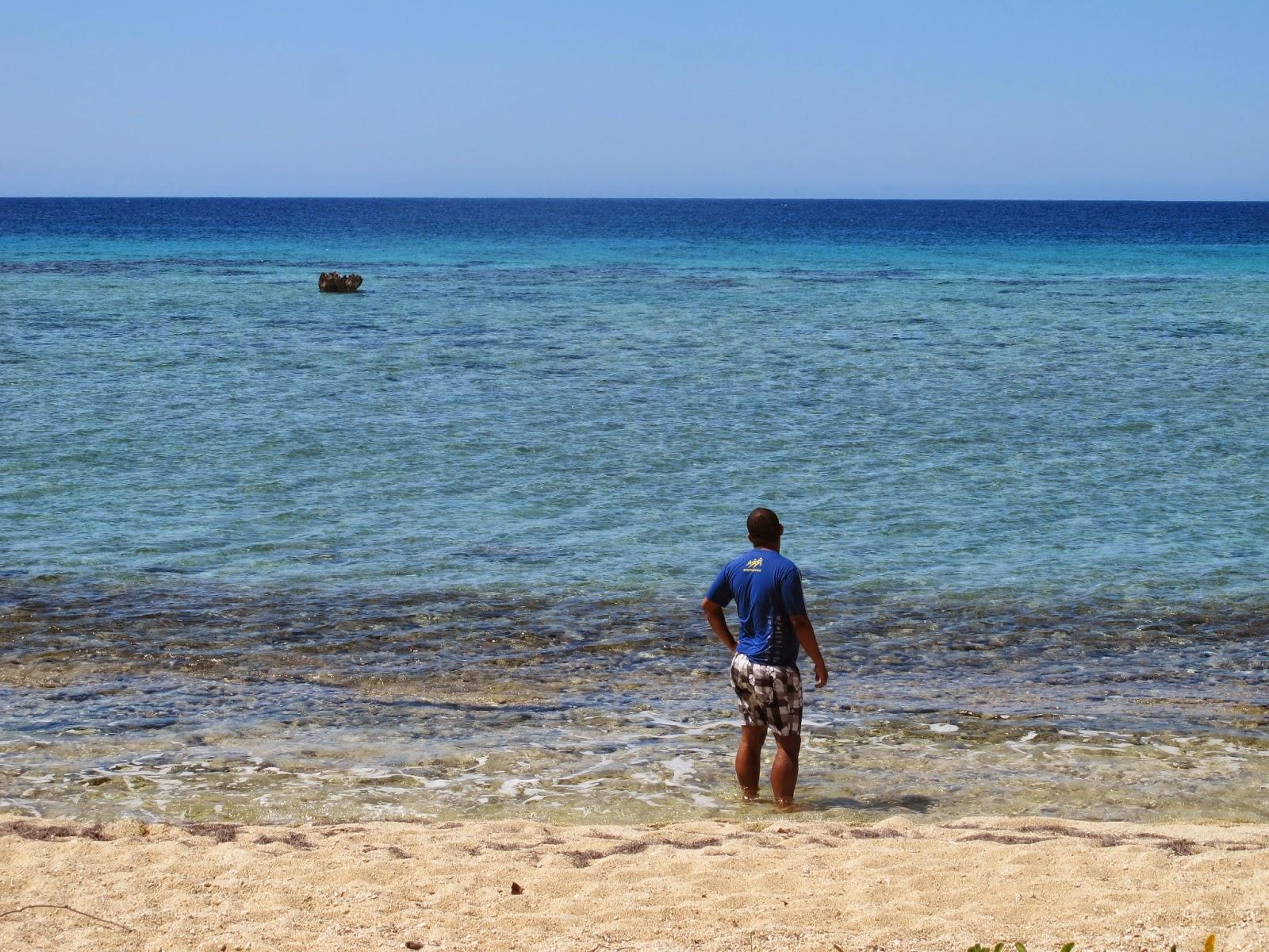 Mar do Caribe de Cuba, na Península Áncon.