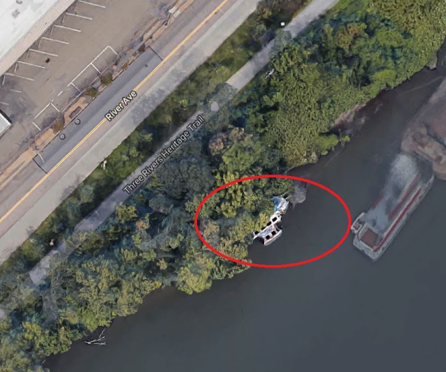 Ariel photo of Pittsburgh Ghost Ship