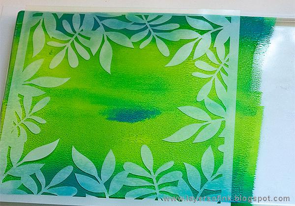 Layers of ink - Gel Printed Leaf Frame Tutorial by Anna-Karin Evaldsson