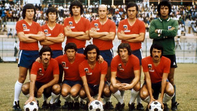 Formación de Chile ante Haití, amistoso disputado el 26 de abril de 1974