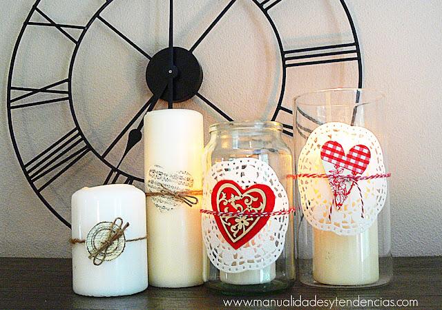 Tutorial portavelas románticos para San Valentín