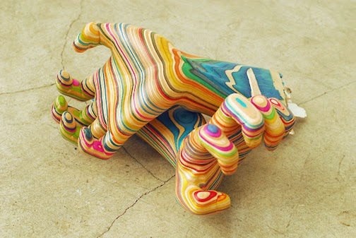 11-Screaming-my-Hand-1-Haroshi-The-Art-of-Skateboarding-Made-into-Sculpture-www-designstack-co