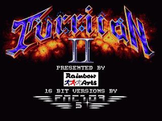 Imagen de título de TURRICAN, 1991, música de Chris Hulsbeck, Amiga, Factor 5