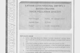 SOAL TPM BAHASA INGGRIS KABUPATEN SLEMAN 2015 (Paket 41-45)