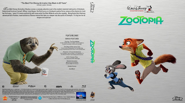 Capa Bluray Zootopia