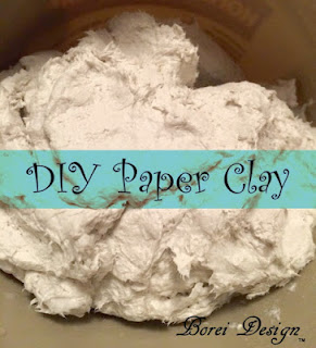 One Year of Craft Tutorials How to make air dry paper mache clay at home using toilet tissue and joint compound