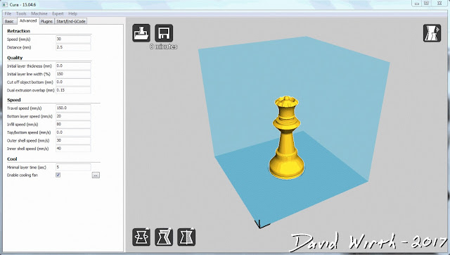 how to use cura, simplify 3d, settings, part, bed, size, temp