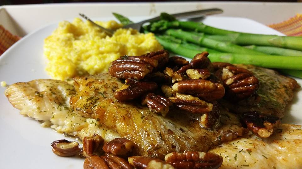 Weston Ochse's Blog - Pan-seared Trout Fllet in Brown Butter Pecan ...