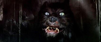 Le Gmork, loup noir au service du Néant dans L'Histoire sans fin, de Wolfgang Petersen (1984)