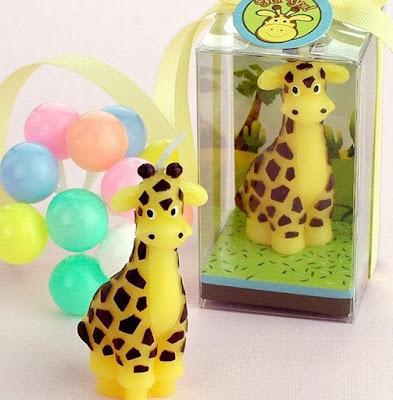Giraffe Shaped Birthday Candle