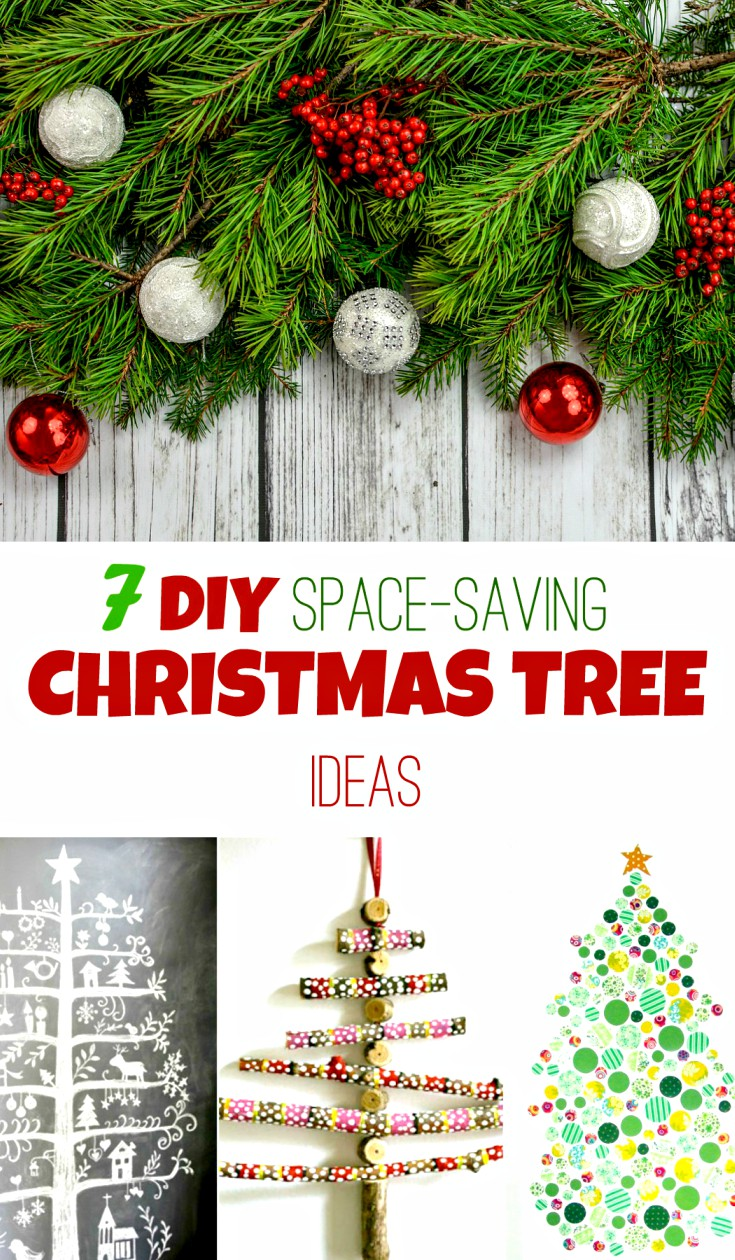 7 Diy Christmas Tree Ideas For Small Spaces - AppleGreen Cottage