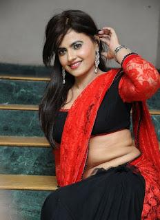 Lezlie Tripathi looks super cute in Saree and black choli
