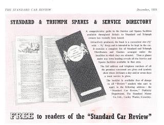 Standard & Triumph Spares & Service Directory 1951
