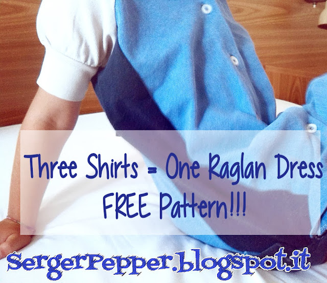 Serger Pepper - 2013 Wrap Up - 5 must read sewing posts - My favorite! - one raglan dress from 3 polo shirts