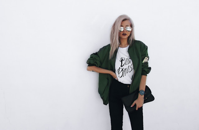 bomber jacket outfit pinterest
