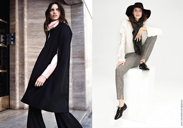 Capas de moda mujer otoño invierno 2018 ropa de mujer. Moda invierno 2018.
