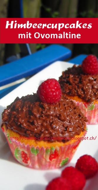Himbeercupcakes mit Ovomaltine