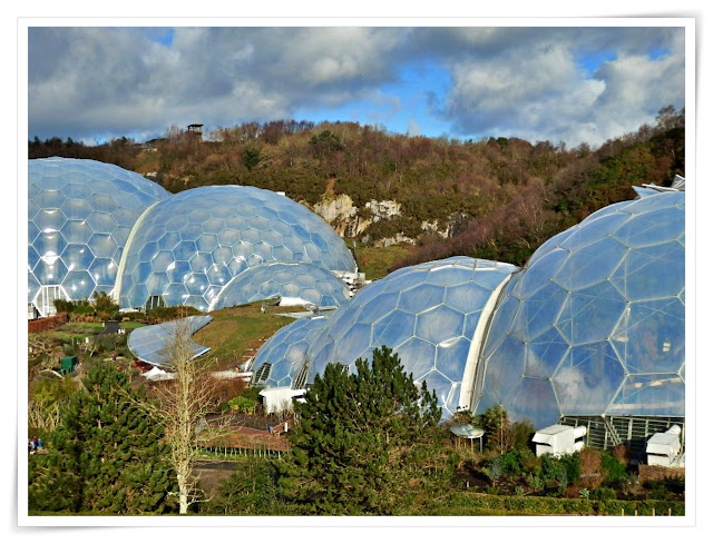 The biomes at the Eden Project, Cornwall