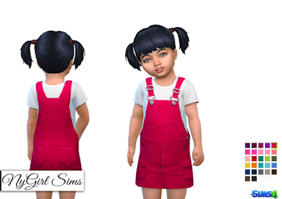 NyGirl Sims 4: Overall Dress