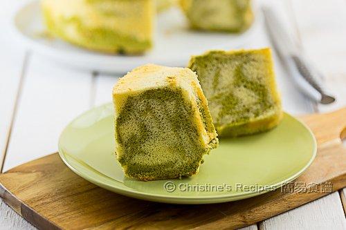 抹茶大理石戚風蛋糕 Matcha Marble Chiffon Cake02