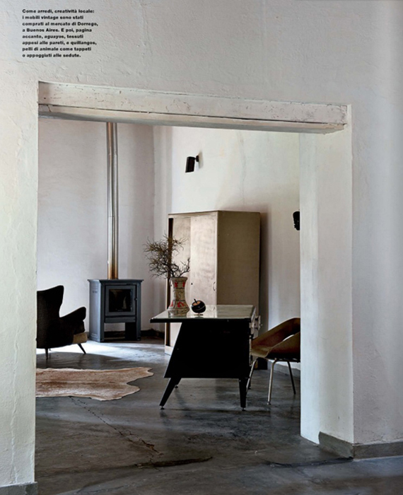Contemporary rustic minimalism |Image by Nathalie Krag via Elle Decor Italia
