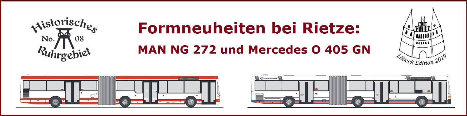 Mercedes O 405 GN Stadtverkehr Lübeck 316 Edition 2019 Rietze Sondermodell