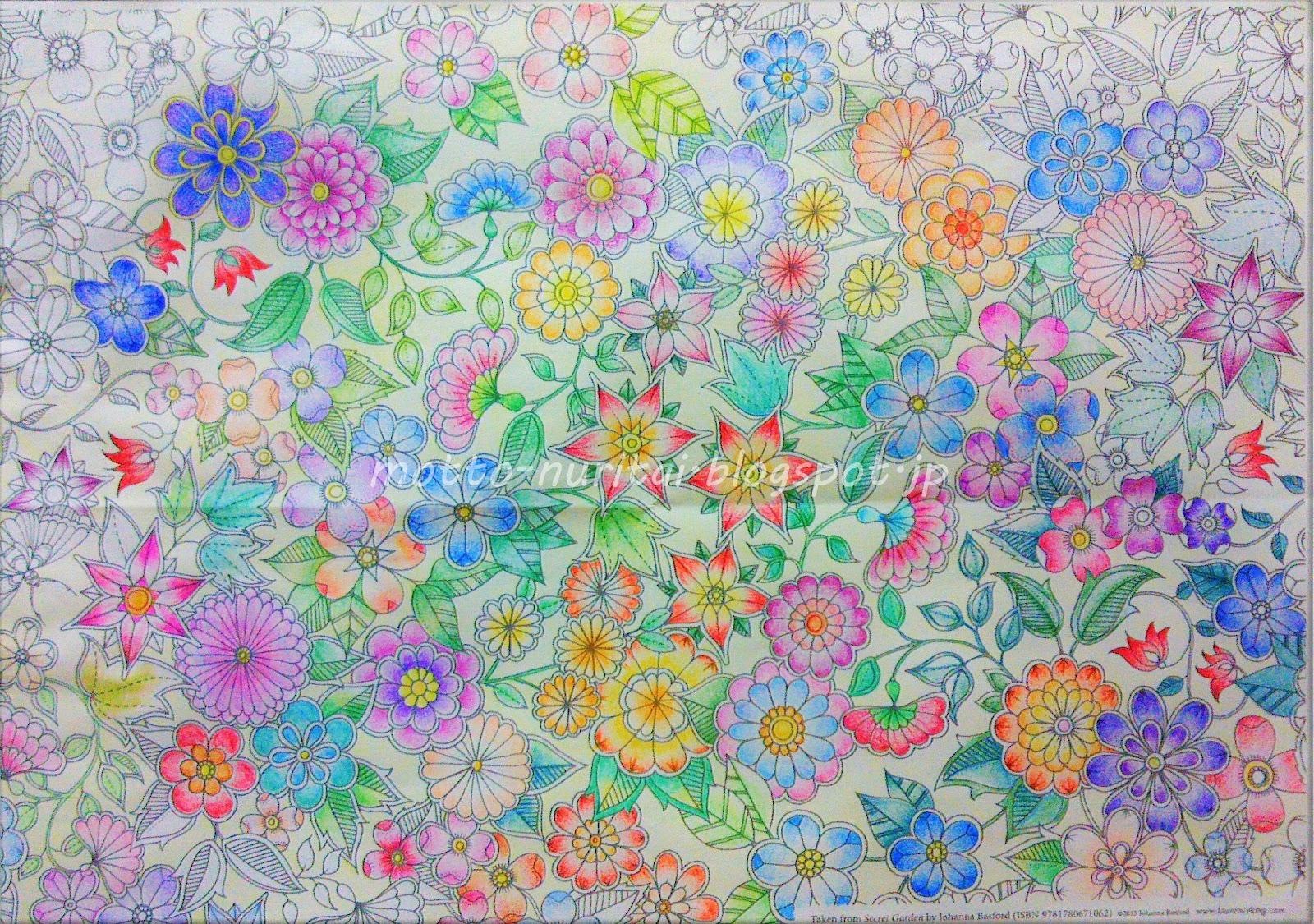 なかなか終わらないひみつの花園 もっと塗りたい大人の塗り絵ブログ