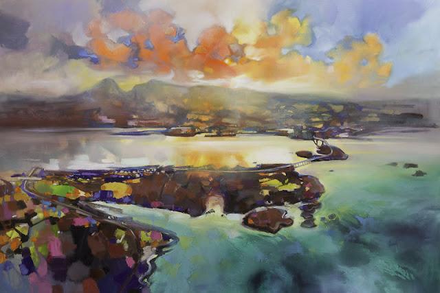 'Skye Bridge', 100 x 150cm, minyak di linen