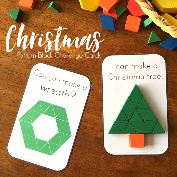 Christmas Stem Challenges.Christmas Stem Pattern Block Challenge Cards You Clever Monkey
