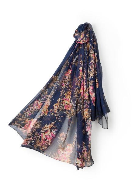 sciarpa fantasia floreale
