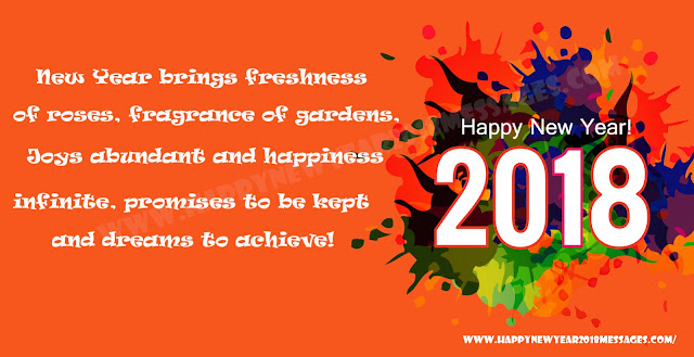 Advance happy new year 2018 wishes Images cards